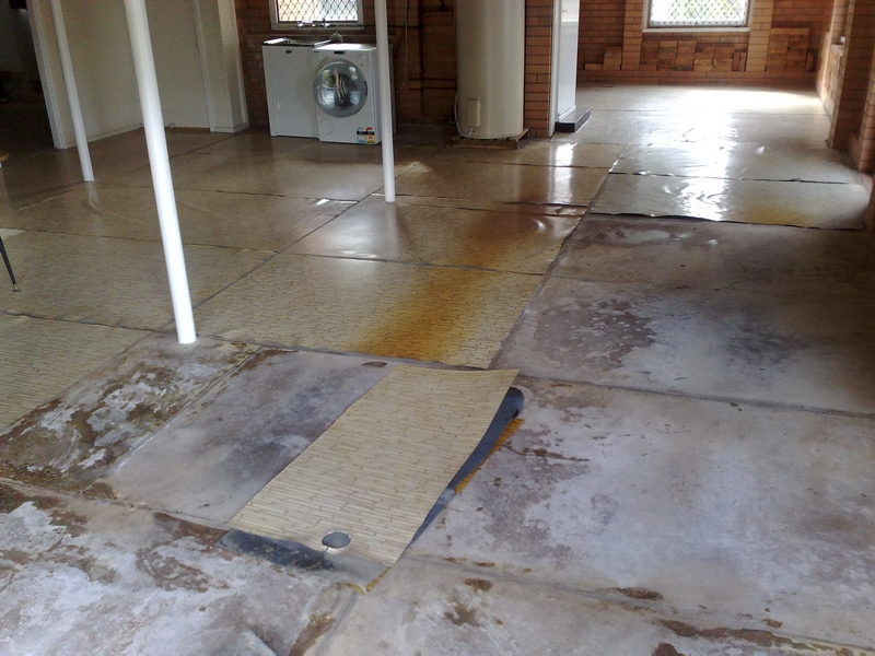 Before Epoxy Flooring